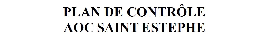 Plan de contrôle de l'AOC Saint-Estèphe